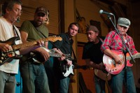 With Terry Ware and the Red Dirt Rangers at the Blue Door, July 2013