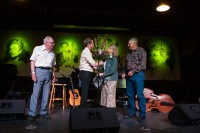 With his mom and dad and great uncle, Oklahoma Music Hall of Fame, June 2014