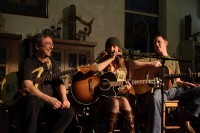 With Terry 'Buffalo' Ware and Susan Herndon at the Chouse, March 2010