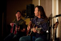 With Kevin Welch at Cobblestone Creek, Dec. 2009