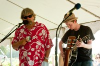 With Tom Skinner at the Grape Ranch, July 2009