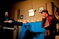With Kevin Welch at the Blue Door, Jan. 2009