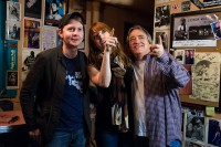 With Alicia Witt and Greg Johnson, Dec. 2012