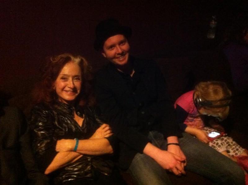 With Bonnie Raitt at the Troubadour on Saturday