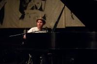 John and a piano