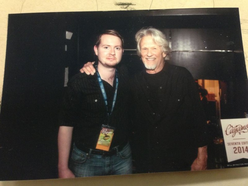 John and Kris Kristofferson on the boag