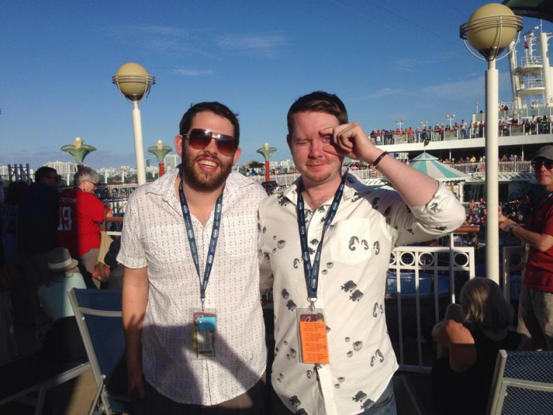 John and David Leach, ready to board the Norwegian Pearl!