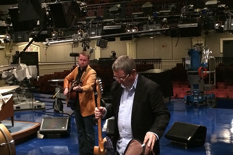 John and Buffalo at sound check.