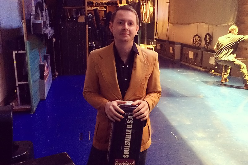John backstage after the show.