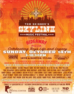 3rd Annual Tom Skinner Skyline Music Festival Poster